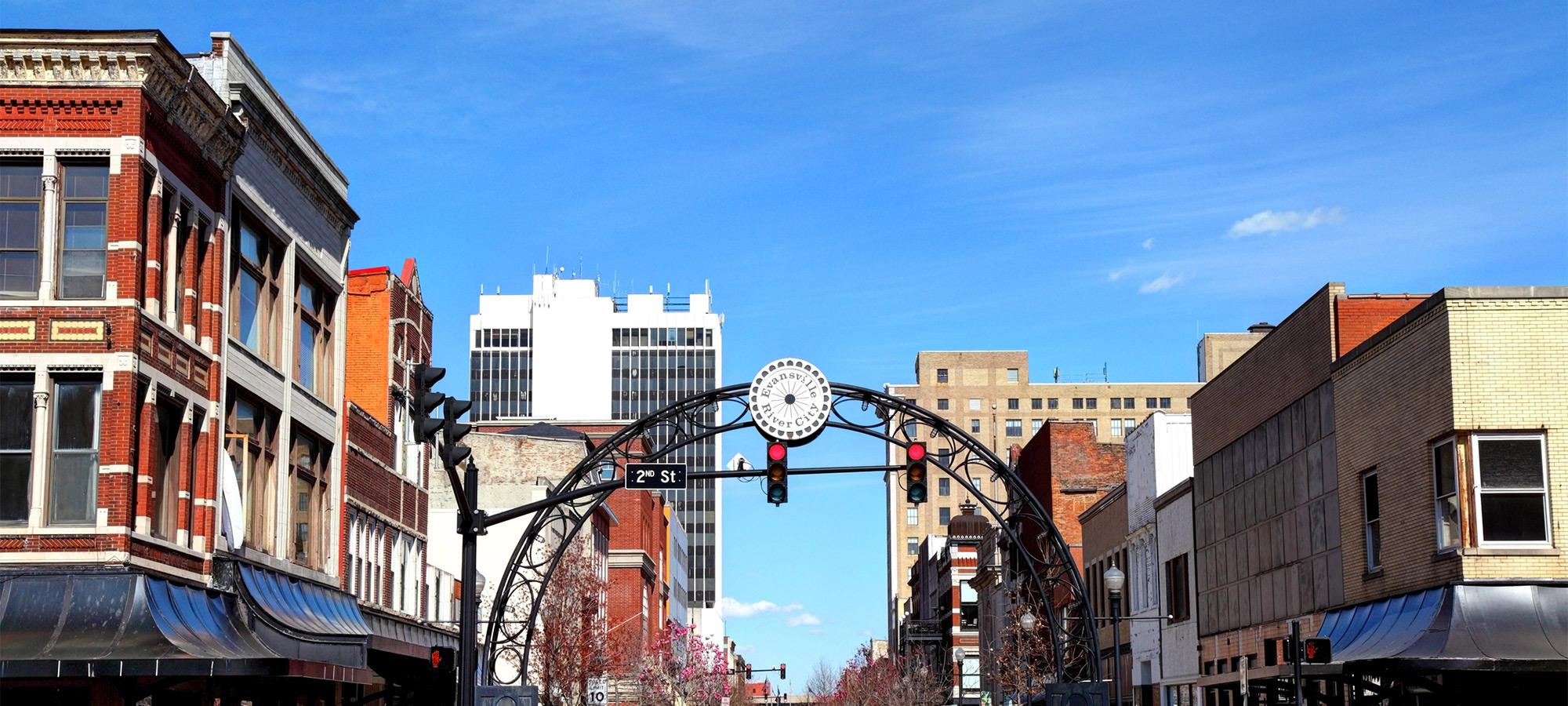 Evansville IN skyline