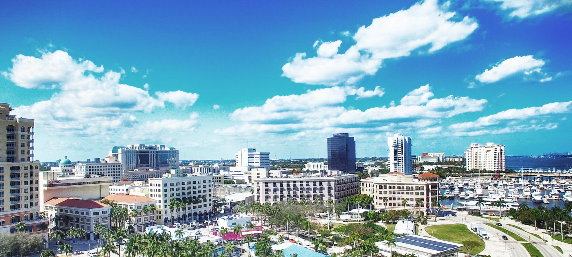 WestPalmBeach FL skyline