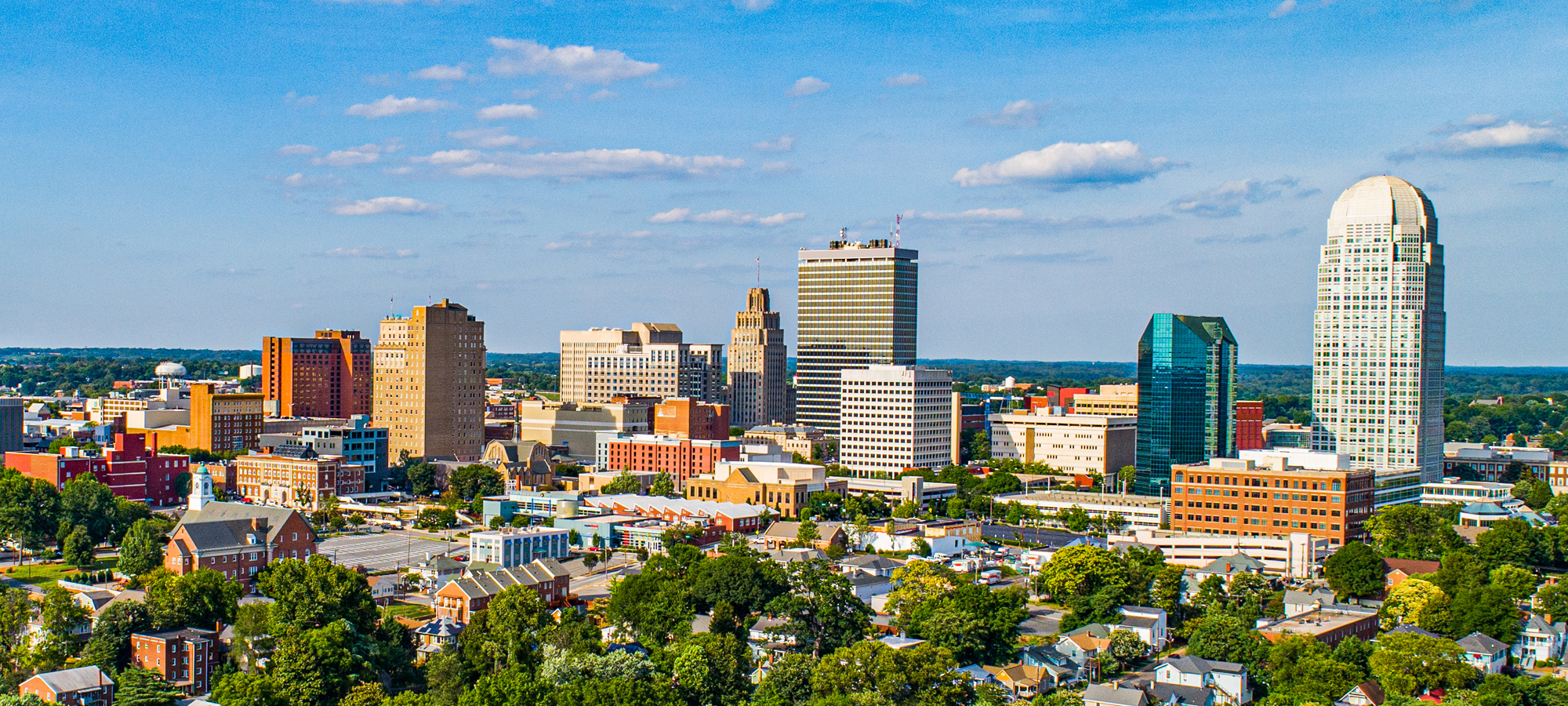 WinstonSalem NC skyline